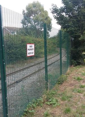 Shoeburyness East Beach Railway Track